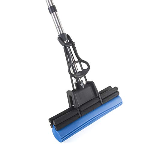 "Kitchen + Home PVA Sponge Mop – Super Absorbent 11"" Quadruple Roller PVA Foam Sponge Mop All Purpose Floor Cleaner - New & Improved!"