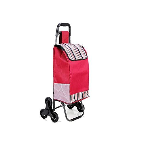 Draagbare Winkelwagen Kleine Pull Cart Zes Wiel Draagbare Vouwen Voedsel Kopen Stick Bagage Ladder Type