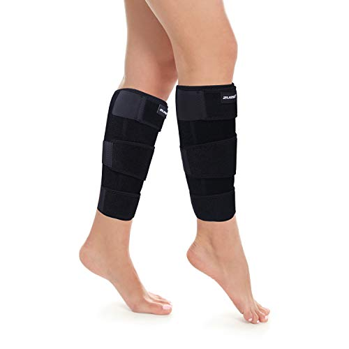 2U2O Calf Brace(Pair) - Adjustable Shin Splint Compression Support for Calf Pain Relief, Recovery, Sprain, Swelling, Tennis Leg, Lower Leg Wrap - Calf Sleeve for Men or Women - Universal Size