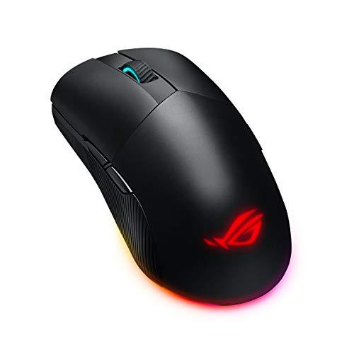 ASUS ROG Pugio II Wireless Gaming Maus (beidhändig, programmierbare Tasten, 16.000 DPI, Aura Sync RGB Beleuchtung) schwarz