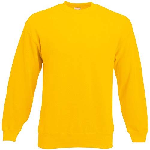Fruit of the Loom Herren 62-202-0 Sweatshirt, Sonnenblume, m