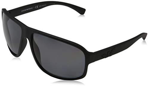 Emporio Armani 0EA4130 Gafas de sol, Matte Black, 63 para Hombre