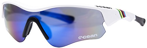 Ocean Sunglasses - Iron - lunettes de soleil - Monture : Blanc Laqué - Verres : Revo Bleu (94000.4)