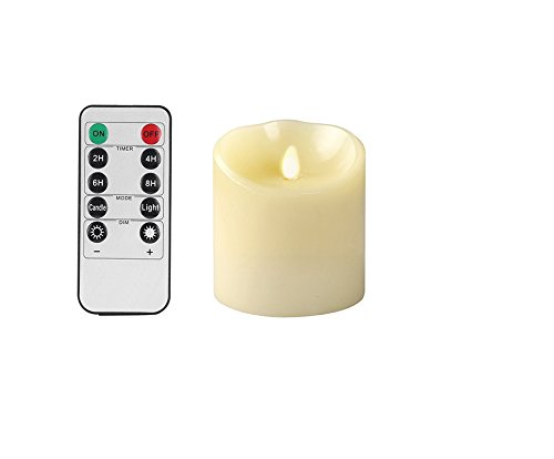 OxoxO 3' Height 4'/10CM Flameless Candles Sway Flicker Real Wax Pillar LED Candles Battery Operated And 10-key Remote control With 24-hour Timer
