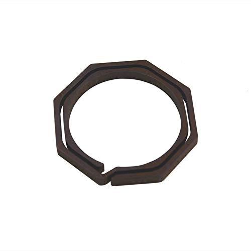Llavero de aleación de titanio llavero 20MM EDC gancho rápido octagonal 7 color pequeño tamaño - marrón - 6