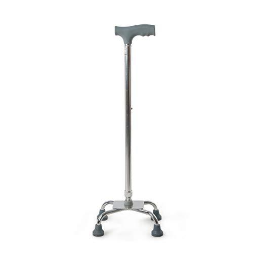 ZGQA-AOC Andadores de Cuatro Patas de caña Viejo Bastón de aleación de Aluminio telescópico Ajustable Ayuda Caminar Antideslizante bastón con el Hospital