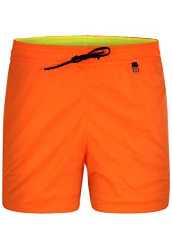 HOM - Herren - Beach Boxer \'Sunlight\' - Angesagter Schwimmshort in Trendfarben - Mandarine orange - M