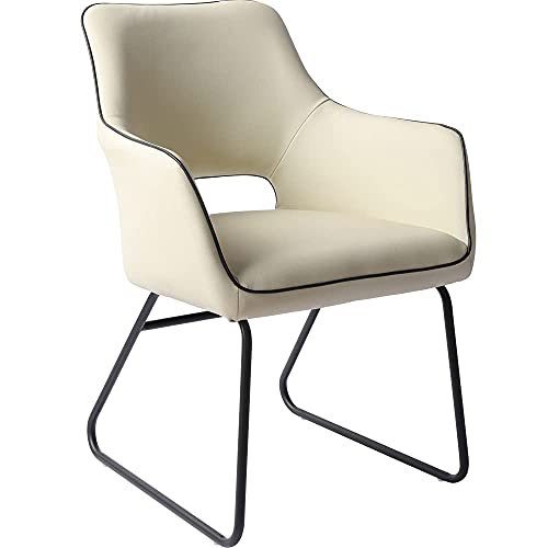 Zerifevni Desk Chairs No Wheels Upholstered Ergonomic More Relaxed Faux Leather Comfort Grace Chair for Home Office
