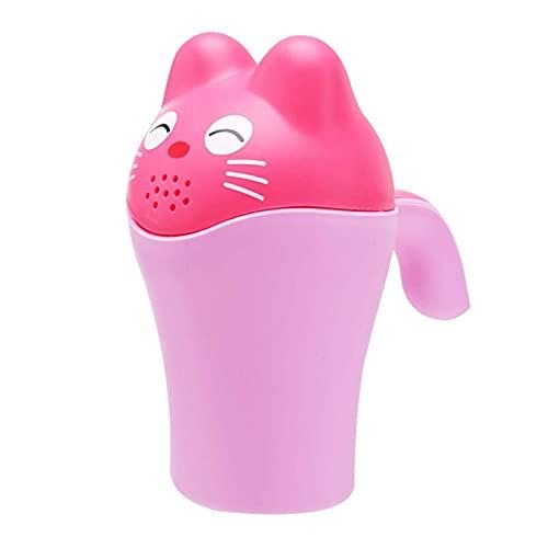 DIMOA Moda y Creative Baby Shower Tazas de Ducha Linda Tazas de champú de champú de Ducha Tazas de champú de Gel con Asas adecuadas para bañarse recogidas para niños (Rosa) (Color : Pink)