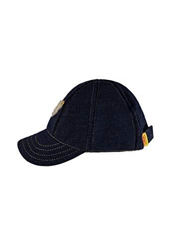 Steiff Baby-Jungen Baseballcap Jeans Kappe, Blau (Dark Blue Denim|Blue 0012), 53