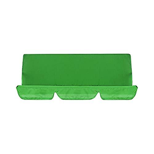 Ersatzdach Gartenschaukel Universal Hollywoodschaukel wasserdicht Swing Seat Cover UV Ersatz Bezug Bettfunktion Liegefunktion Schaukel Sonnendach Schaukel (150 x 150 x 10 cm) (Grün)