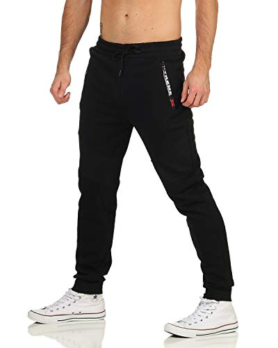 ZARMEXX Pantalon de jogging pour homme, pantalon de sport, pantalon de sport, pantalon de sport, pantalon de sport, pantalon de jogging, pantalon de loisirs - Noir - M