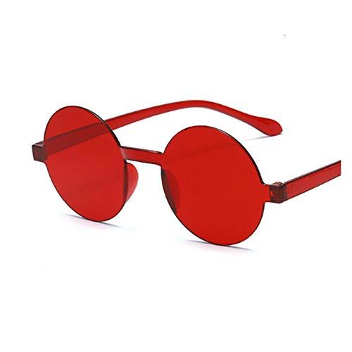 Vintage Pequeño Redondo Rojo Gafas de Sol Mujeres Retro Gafas de Sol Negro Gafas de Sol Mujer Color de Dulces Mujeres (Lenses Color : Red)