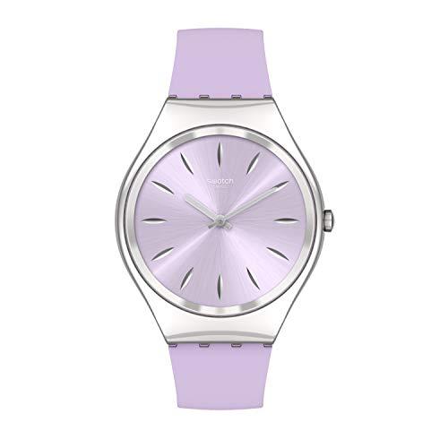 Swatch - Orologio da polso unisex al quarzo, cinturino in acciaio, rosa, 16 casual (modello: SYXS131)