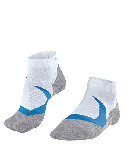 Falke Ru4 Cool Short M Sso - Calcetines de correr para hombre (fibra funcional), Hombre, Calcetines de running, fibra funcional., 16748, Blanco (White 2006)., 39-41