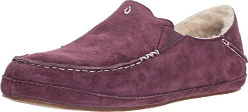 OluKai Nohea Slipper, Women's Slip-On Shoes, Genuine Shearling & Premium Nubuck Leather, Drop-In Heel Design, Cozy & Ultra-Soft Comfort Fit
