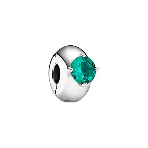 Green Round Solitaire Clip Charm