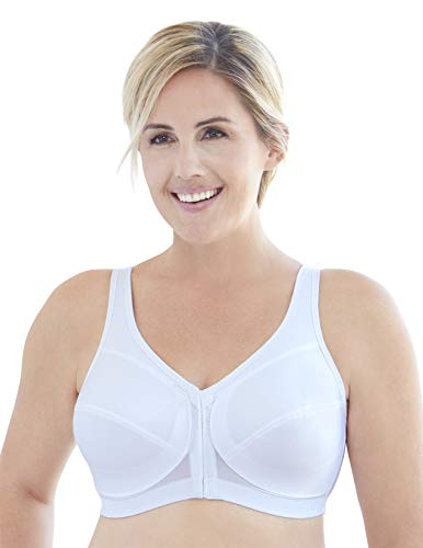 Glamorise Womens 360 Support MagicLift Front-Close Posture-Back Bra, White, 58D