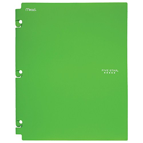 Five Star 2-Pocket Folder, Snap-In Folder, Folders with Pockets, Color Selected for You, 1 Count (35058)