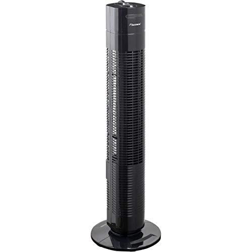Bestron Turmventilator mit Schwenkfunktion, Höhe: 75 cm, 35 W, Schwarz