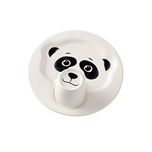 Villeroy & Boch Animal Friends Teller mit Becher, Pandabär, Premium Porzellan, Weiß, 22.5 x 22.5 x 12 cm, 2-Einheiten