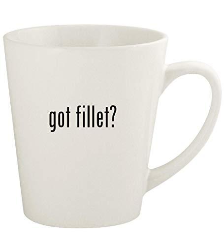 got fillet? - 12oz Ceramic Latte Coffee Mug Cup, White