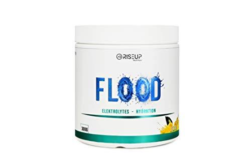 RiseUp FLOOD Elektrolyte Pulver ohne Zucker I Zitronen Geschmack I Mineralien & Spurenelemente ohne Zusätze (300g) (Zitrone) (Zitrone)