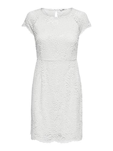 ONLY Damen Kurzkleid Spitzen 42Whisper White