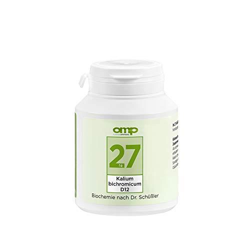 Schüssler Salz Nr. 27 Kalium bichromicum D12 | 400 Tabletten | Das Salz für Fett-, Eiweiß- und Kohlenhydratstoffwechsel | glutenfrei