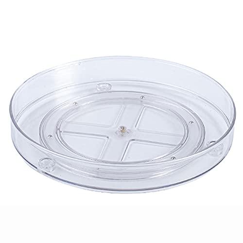 RUNS Especiero Plato Giratorio, Organizador De Armarios con 1-3 Pisos De Plástico, Especiero Giratorio para Los Armarios De La Cocina O La Encimera - Transparente