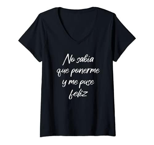 Mujer Camiseta frases graciosas divertidas originales mujer Camiseta Cuello V