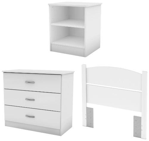 Hot Sale South Shore Libra Bedroom Set in a Box, Twin, Pure White