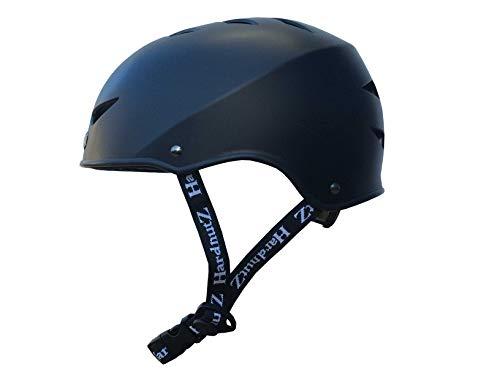 HardnutZ Street Helmet - BMX, Bike, Skate, Small Medium Large - Adults Kids Sizes (Black, Medium 54-58cms)