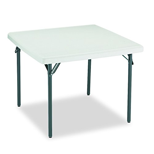 Iceberg 65273 IndestrucTable TOO Folding Table, 37' Square, Platinum (Made in USA)