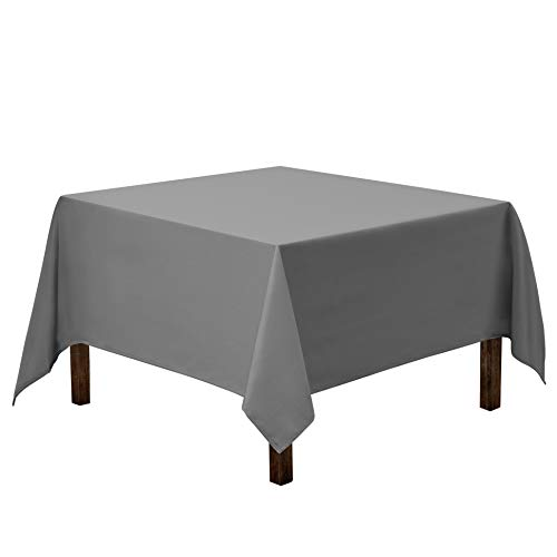 Gee Di Moda Square Tablecloth - 70 x 70 Inch - Charcoal Square Table Cloth for Square or Round Tables in Washable Polyester - Great for Buffet Table, Parties, Holiday Dinner, Wedding & More
