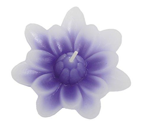 Bougie fleur. Bougie flottante de jardin en forme de bougie Nénuphar, en couleur. La Voile est de cire. Mesures de la cire fleur Nénuphar flottant 8,5 x 3 cm de haut Medidas de la vela nenúfar, 8,5 x 3 cm de alto bleu