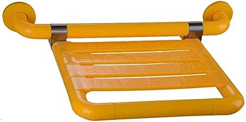 Ducha plegable Baño deacero inoxidable Silla de ducha plegable para ancianos/discapacitados/Asiento de baño para colgar en la pared Silla de pared para baño Taburetes de baño
