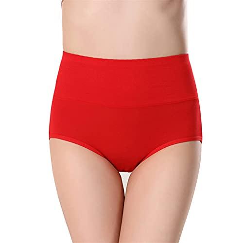 10 Piezas Bragas del Período Menstrual de Las Mujeres de Cintura Alta Fibra de Viscosa de Bambú Prueba de Fugas Respirable Super Suave Comodidad (Color : Style5, Size : XL)