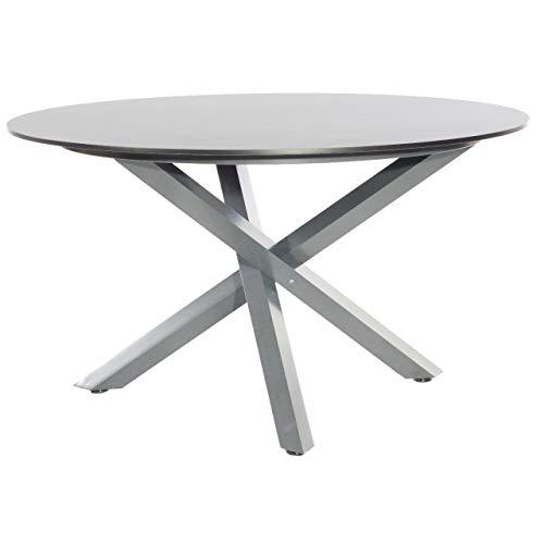 Sonnenpartner Gartentisch Base-Spectra ø134 cm Alugestell anthrazit Tischsystem HPL Vintageoptik