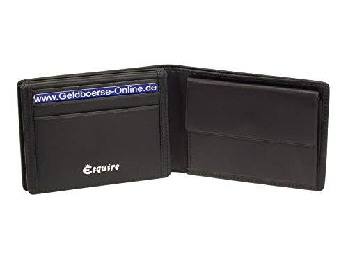 Esquire RFID Black kleine Geldbörse RFID Schutz GO 2200 kleines Portemonnaie
