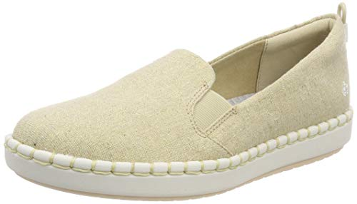 Clarks Step Glow Slip, Zapatillas sin Cordones para Mujer, Beige (Soft Gold Soft Gold), 37 EU