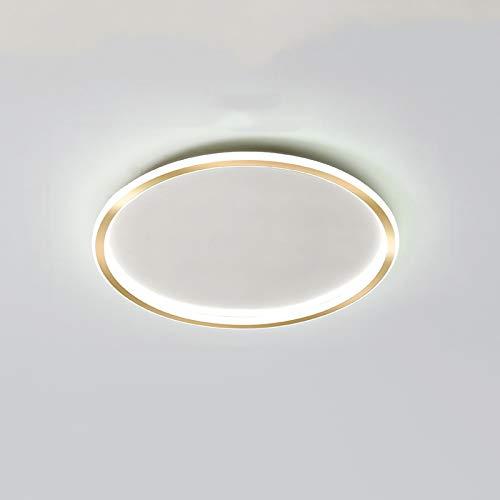 zlw-shop Ceiling Light Ronda Creativa Caliente de Techo romántico Dormitorio de la lámpara de la Cocina de Oro Simple de Techo lámpara de Techo lámpara de Estudio Lámpara Techo (Color : White Light)
