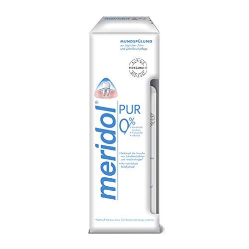 meridol Mundspülung PUR, 400 ml - antibakterieller Effekt, für gesunde Zähne & Zahnfleisch, ohne Alkohol
