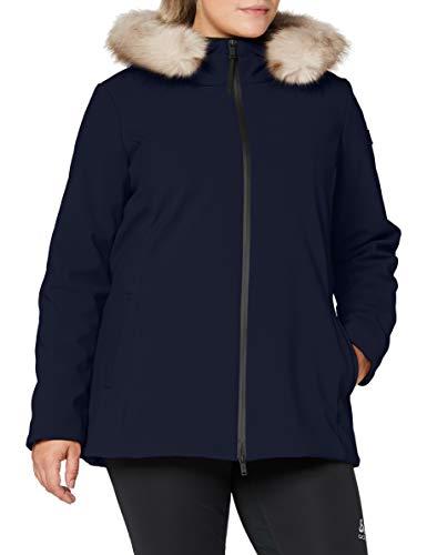 CMP Damen Parka Softshell Imbottito Con Cappuccio Eco Fur Jacke, Schwarz Blau, 46 (XXL)