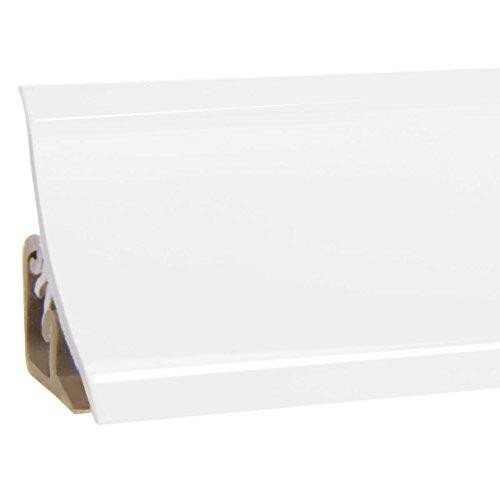 HOLZBRINK Copete para encimera de Cocina, Blanco, listón de Acabado PVC, listón de encimera 23x23 mm 150 cm