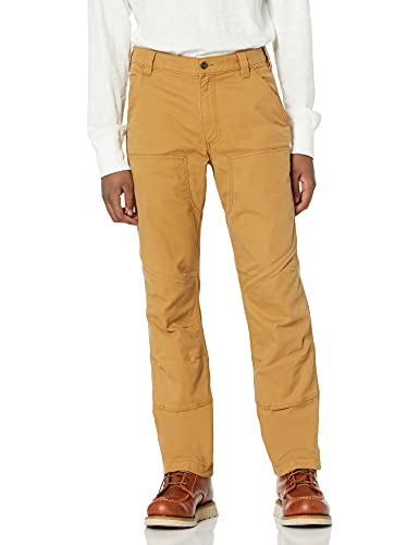 Carhartt Rugged Flex Rigby Double-Front Pant Pantalone, Hickory, W34/L32 Uomo
