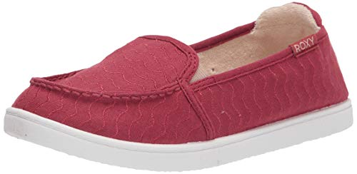 Roxy Women's Minnow Slip On Sneaker, Red Exc, 8