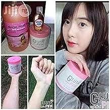 Gluta Pink skin whitening Body cream Size 450 g.(Gluta cream Bestseller white within 14day)