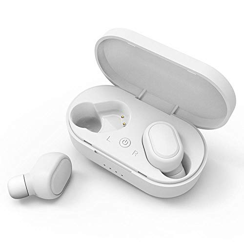 zhangkexiang Auriculares Bluetooth TWS Bluetooth Headset 5.0 Business Running Sports Headset Stereo Headset-Blanco