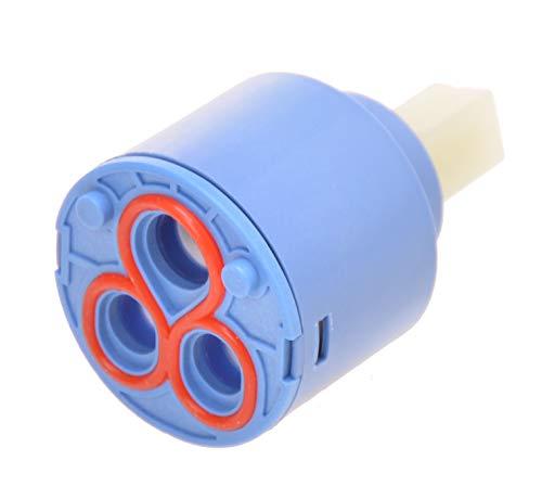 Cartucho de cerámica de repuesto para grifo – Diámetro 40 mm/altura 62 mm Unidad de control para grifos monomando.